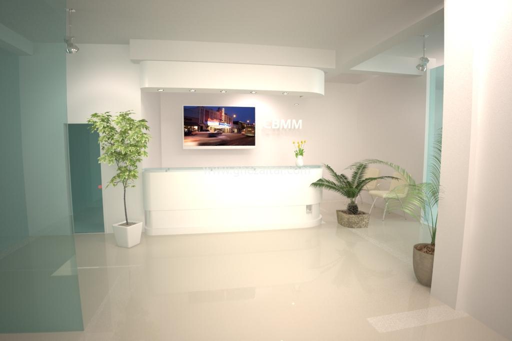 Espace accueil Laboratoire d'analyse médicale- décoration d'intérieur - Algérie